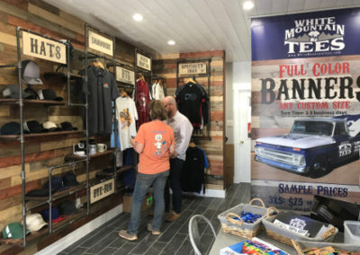 White Mountain Tees Showroom