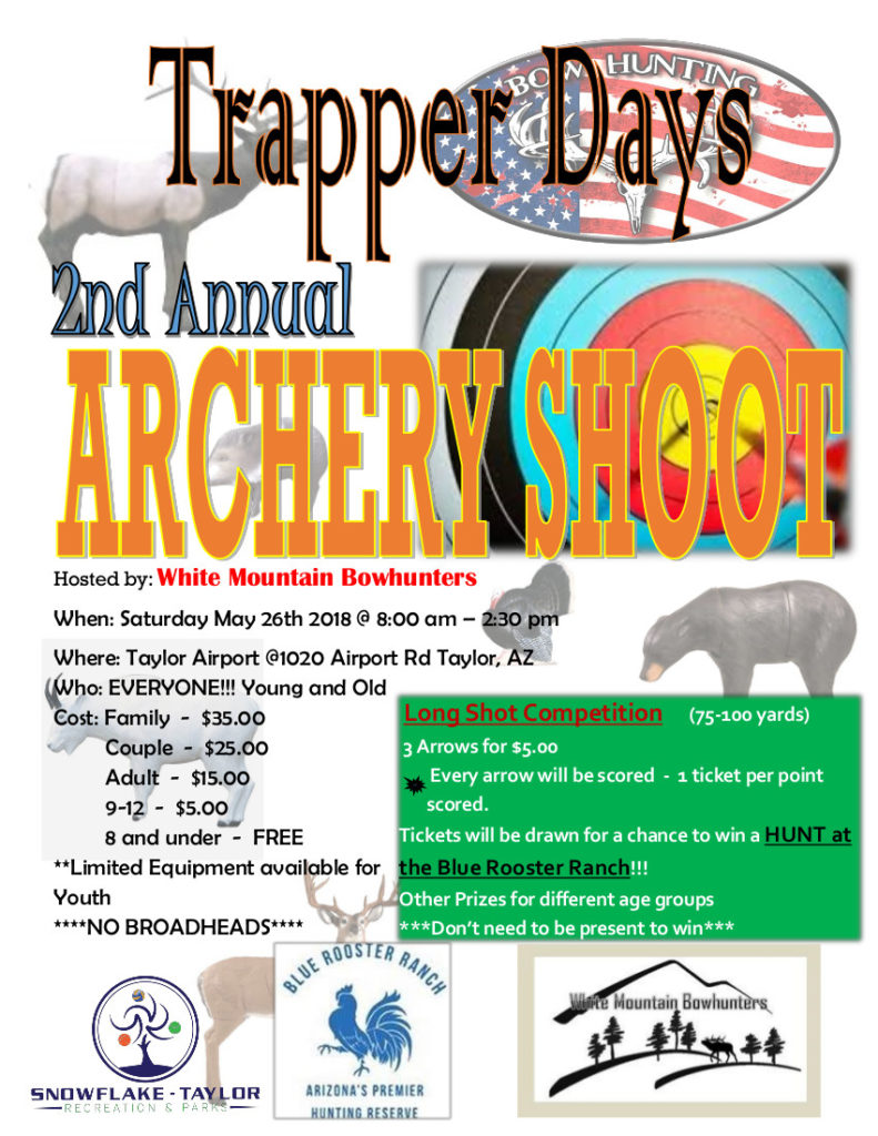 Trapper Days 2nd Annual Archery Shoot