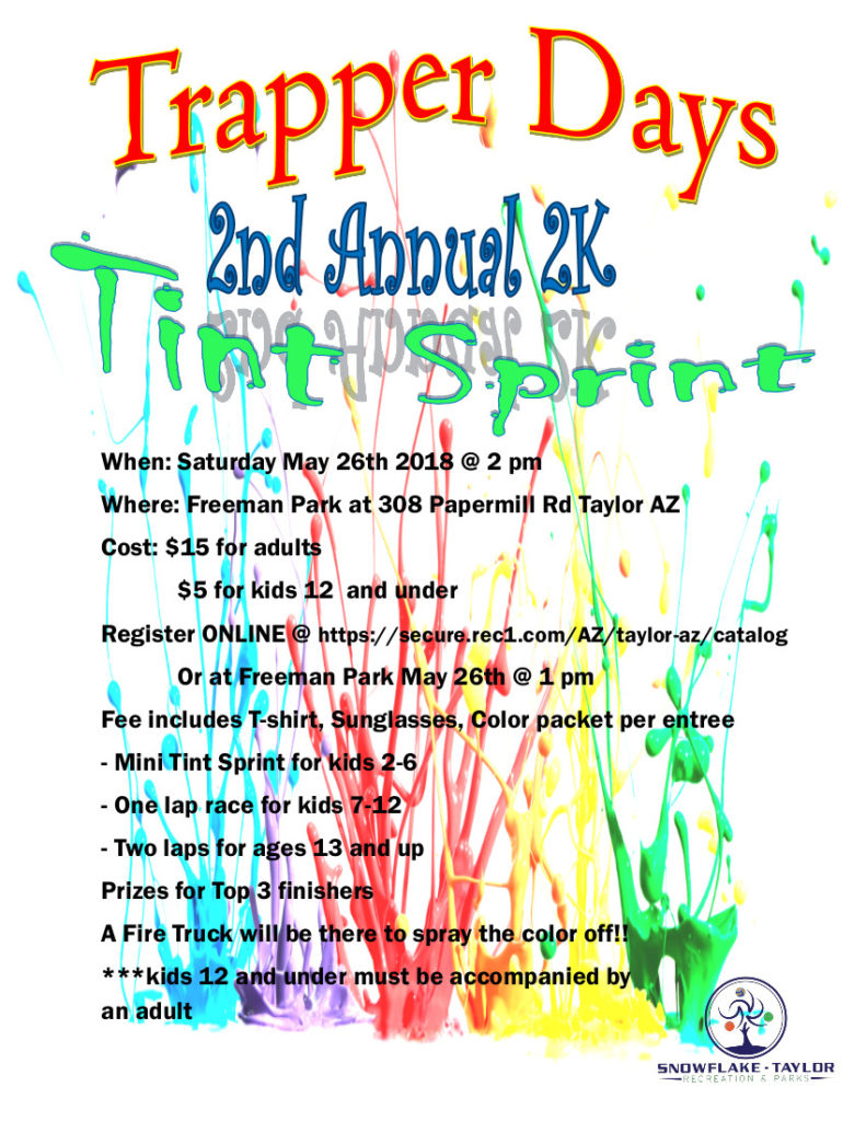 Trapper Days 2nd Annual 2K Tint Sprint