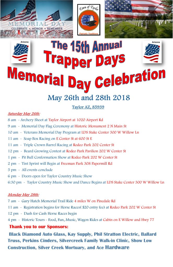 Trapper Days Schedule