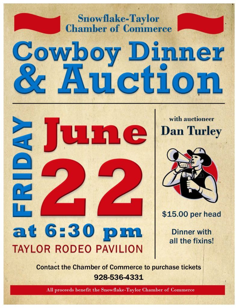 Cowboy Dinner & Auction flyer