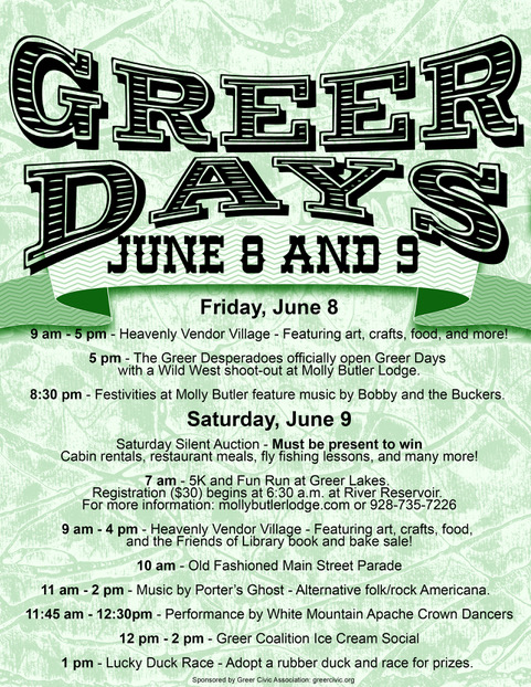 Greer Days flyer