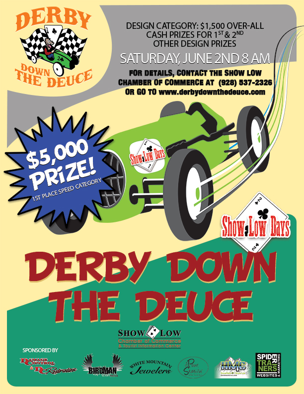 Derby Down the Deuce Event Flyer