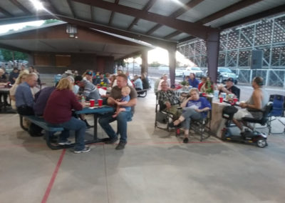 Crowd at Cowyboy Dinner Auction