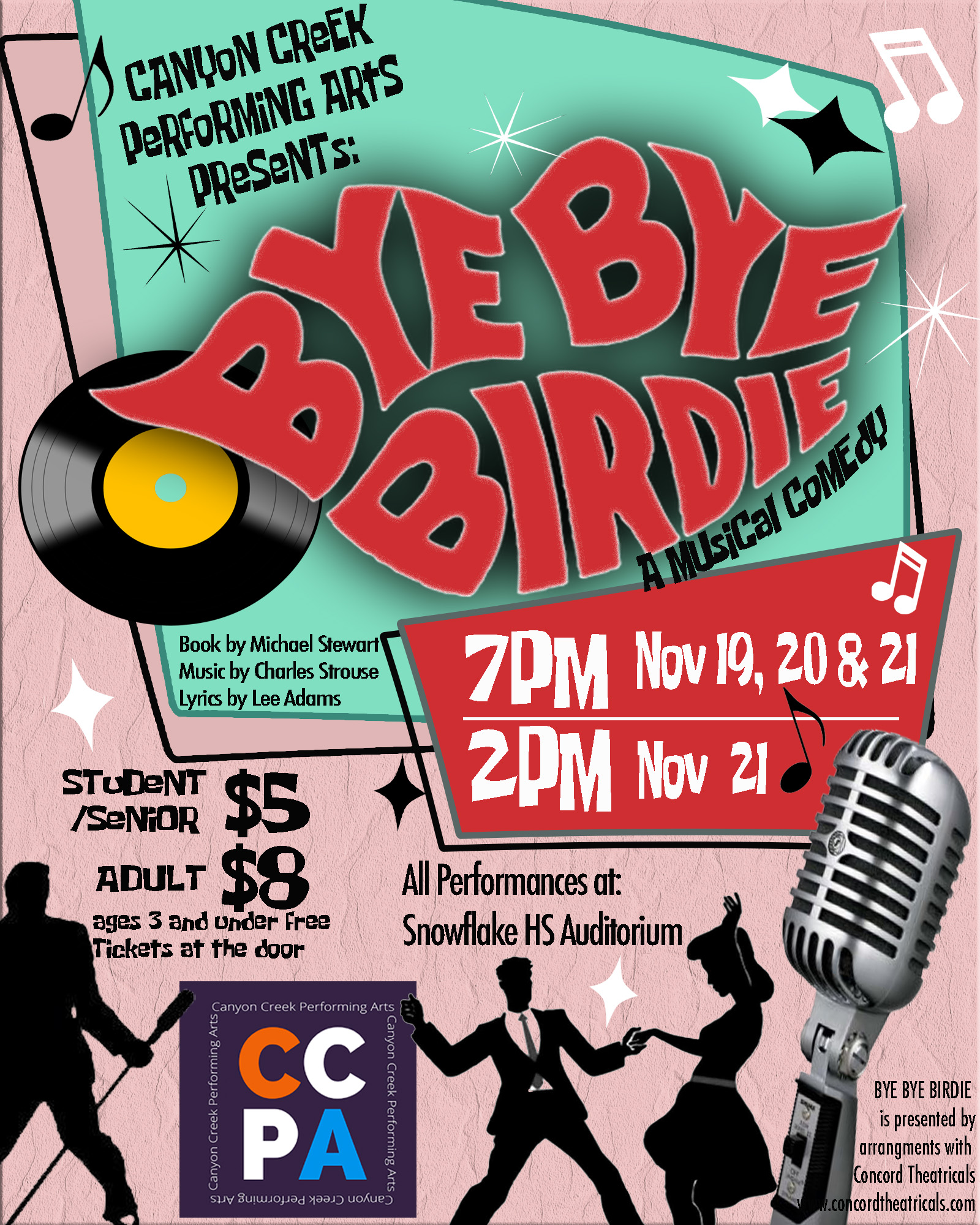 CCPA Presents: Bye Bye Birdie @ Snowflake High School Auditorium | Snowflake | Arizona | United States