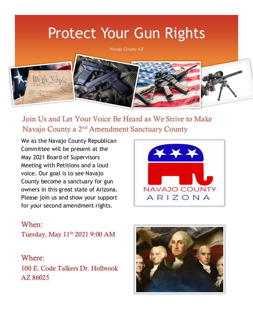 Navajo County Board of Supervisors Meeting - Gun Rights @ Navajo Count Comples | Holbrook | Arizona | United States