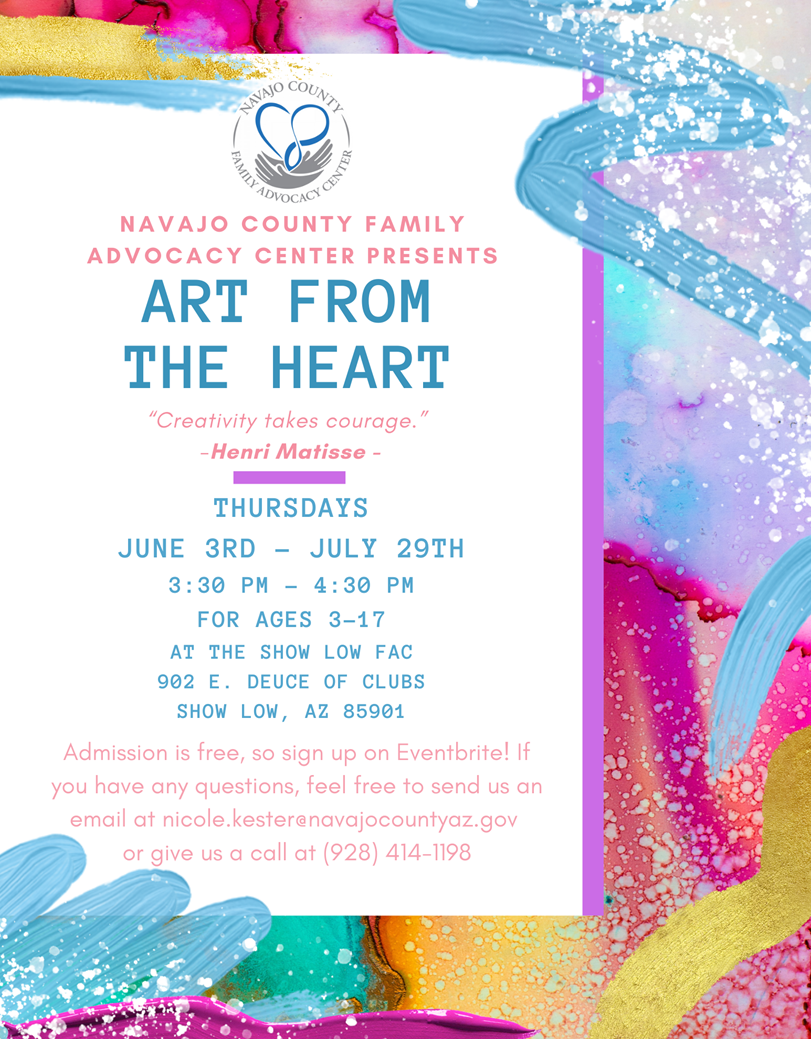 Art from the Heart @ Family Advocacy Center | Show Low | Arizona | United States