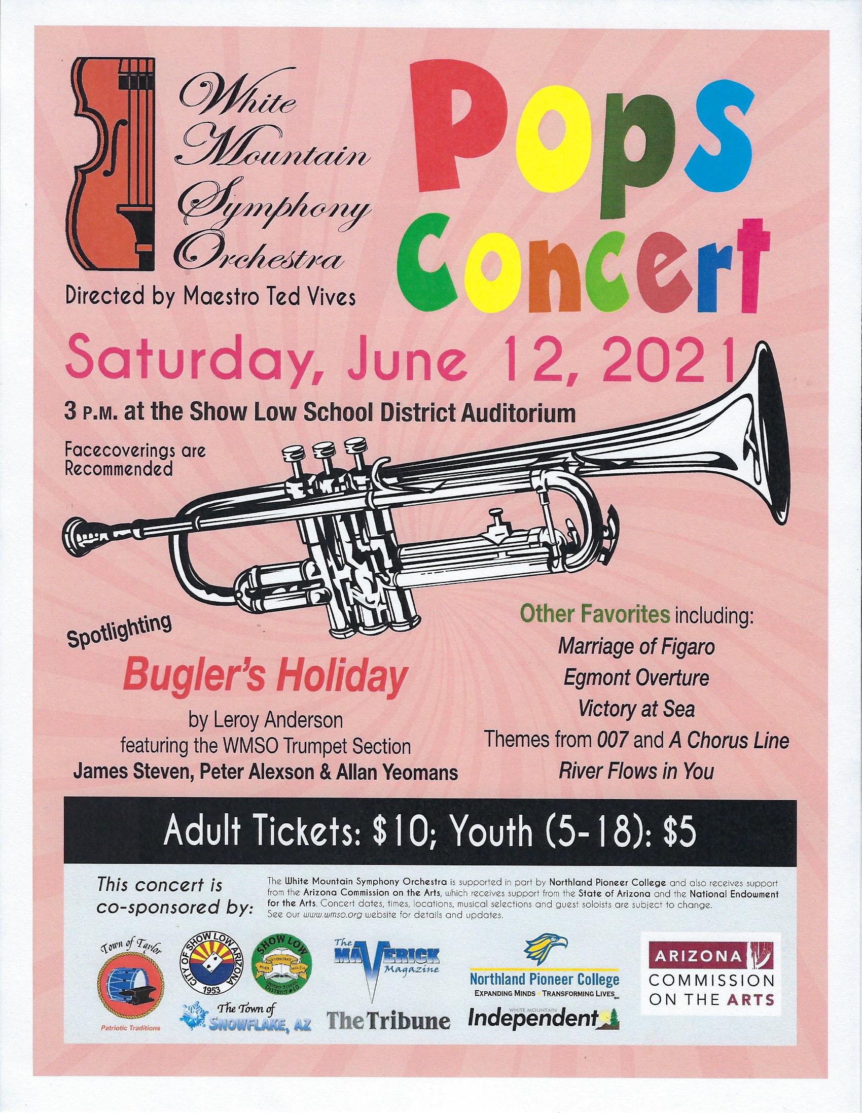 WMSO Pops Concert @ Show Low High School Auditorium | Show Low | Arizona | United States