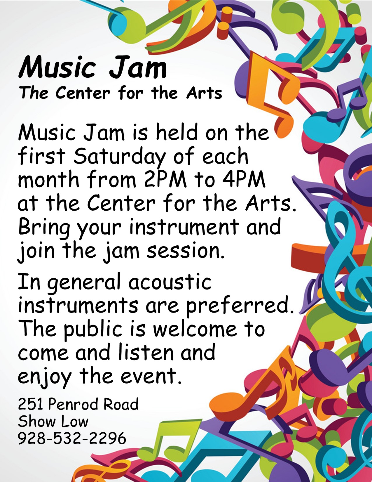 Music Jam @ The Center for the Arts | Show Low | Arizona | United States