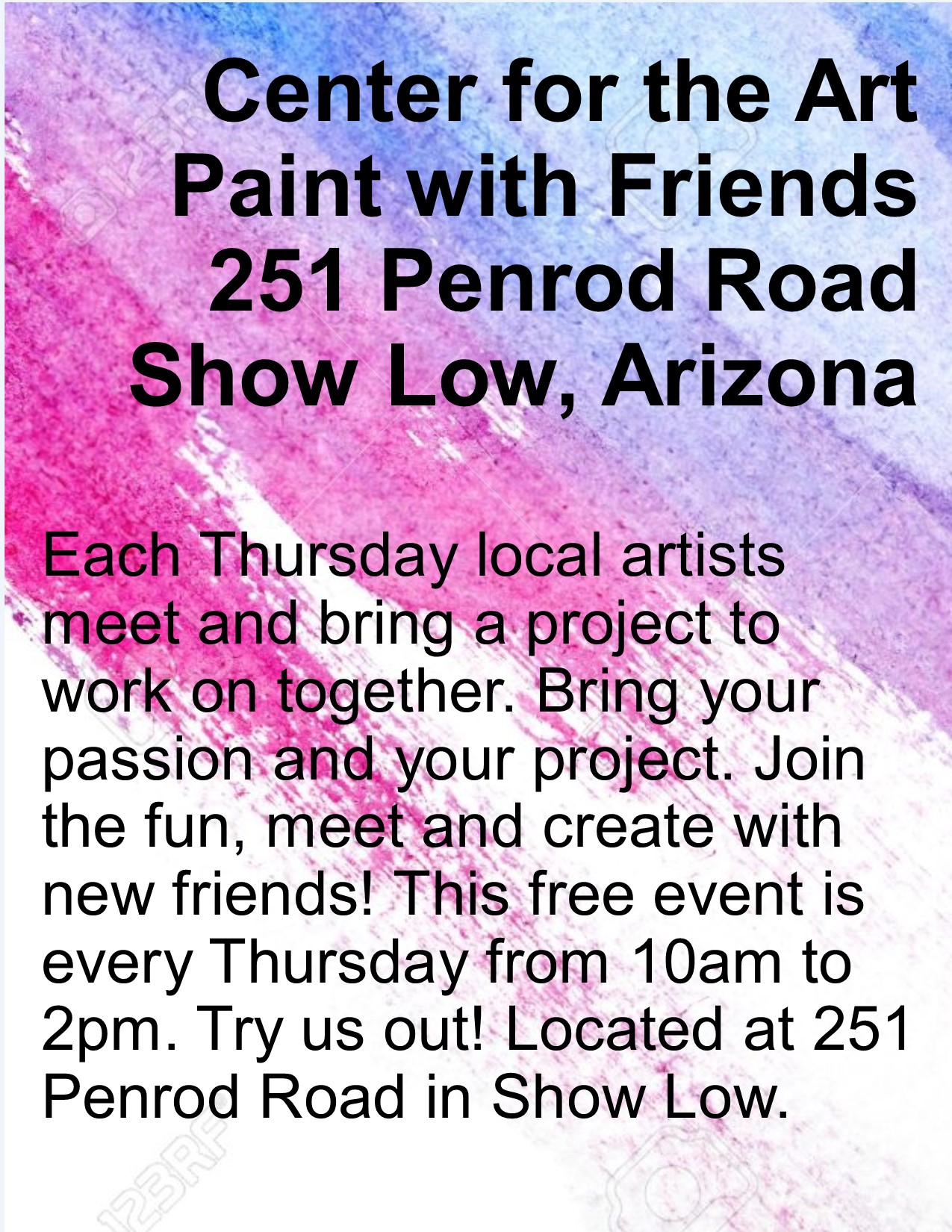 Paint With Friends @ Center for the Arts | Show Low | Arizona | United States