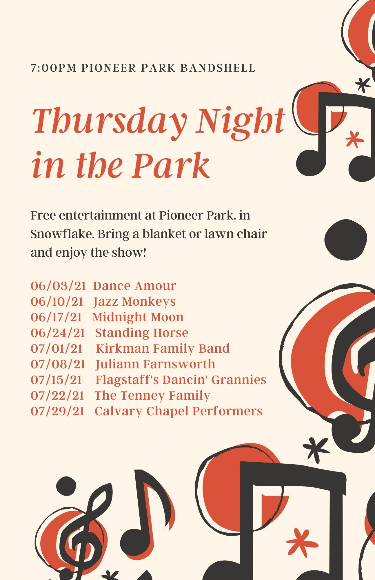 Thursday Night in the Park @ Pioneer Park | Snowflake | Arizona | United States